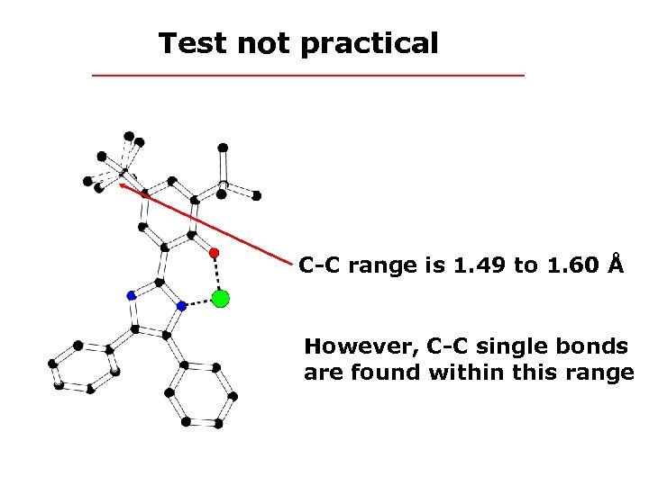 Test not practical C-C range is 1. 49 to 1. 60 Å However, C-C