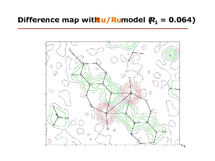 Difference map with Ru/Rumodel ( 1 = 0. 064) R