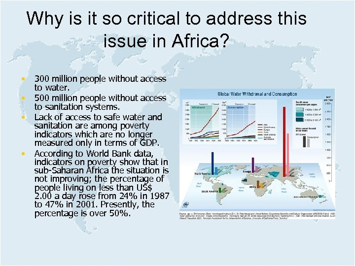 Why is it so critical to address this issue in Africa? • • 300
