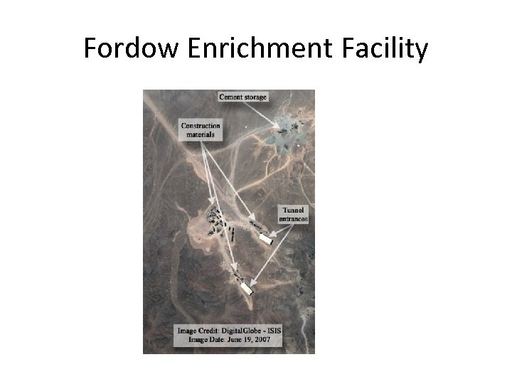 Fordow Enrichment Facility