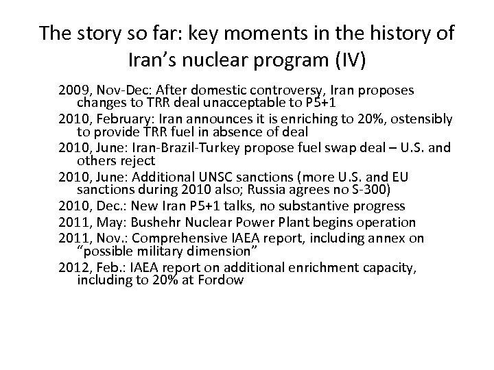 The story so far: key moments in the history of Iran's nuclear program (IV)