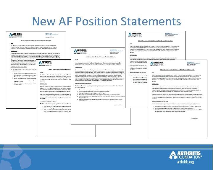 New AF Position Statements
