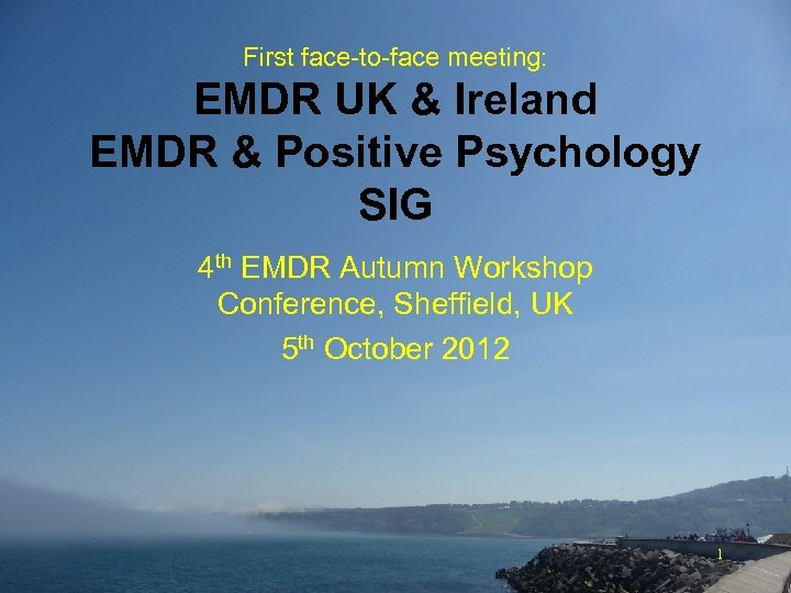 First face-to-face meeting: EMDR UK & Ireland EMDR & Positive Psychology SIG 4 th