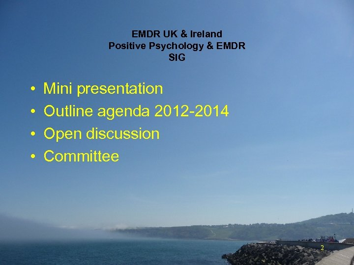 EMDR UK & Ireland Positive Psychology & EMDR SIG • • Mini presentation Outline