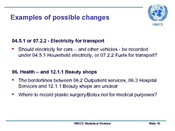 Examples of possible changes 04. 5. 1 or 07. 2. 2 - Electricity for