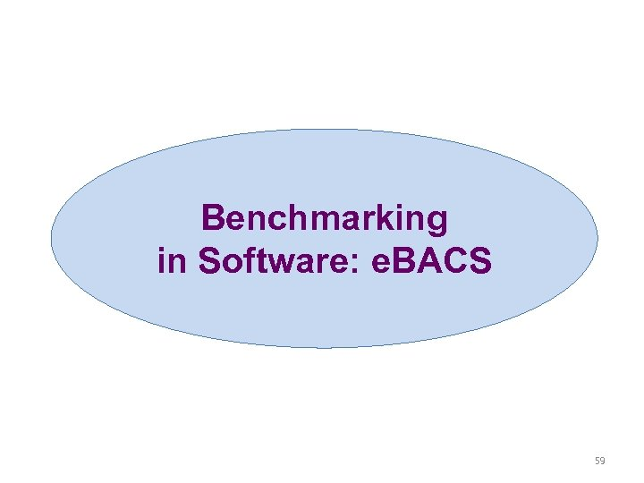 Benchmarking in Software: e. BACS 59