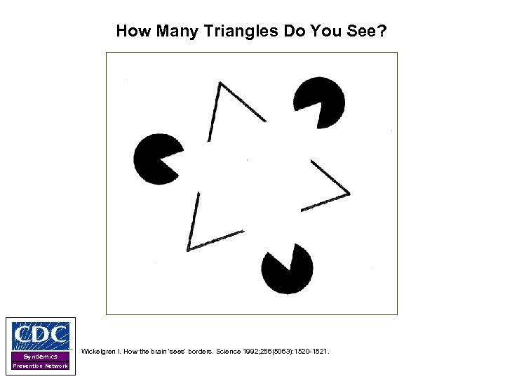 How Many Triangles Do You See? Syndemics Prevention Network Wickelgren I. How the brain