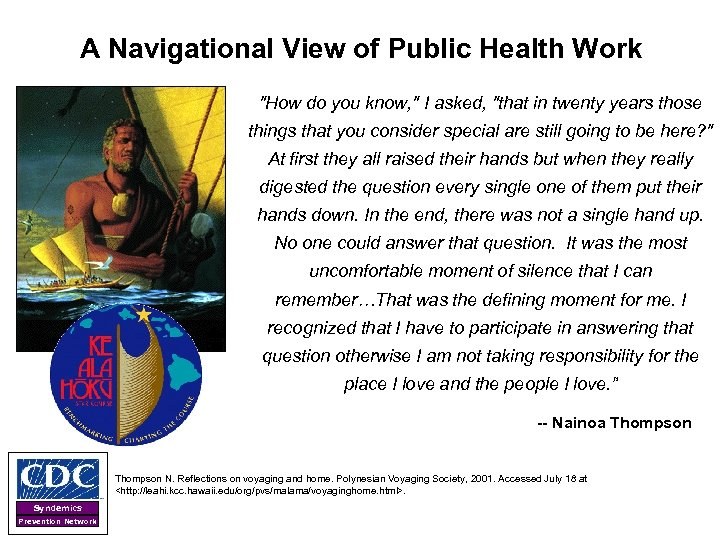 A Navigational View of Public Health Work