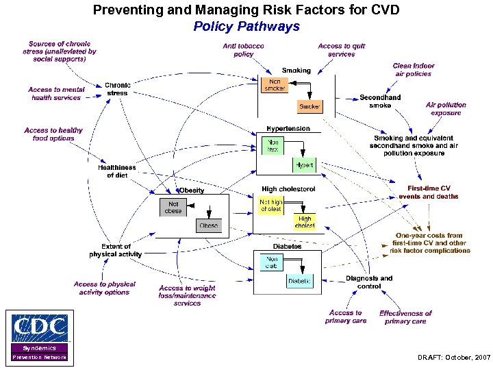 Preventing and Managing Risk Factors for CVD Policy Pathways Syndemics Prevention Network DRAFT: October,