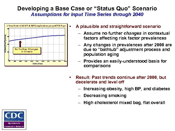 """Developing a Base Case or """"Status Quo"""" Scenario Assumptions for Input Time Series through"""