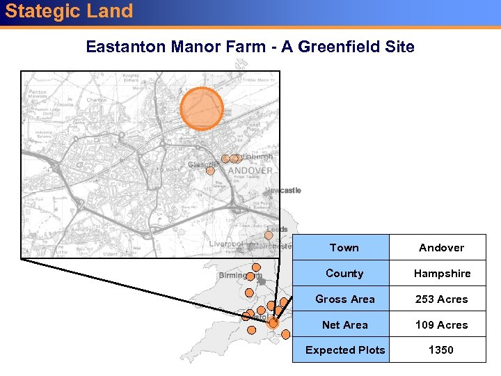 Stategic Land Key Sites Eastanton Manor Farm - A Greenfield Site Town Andover County
