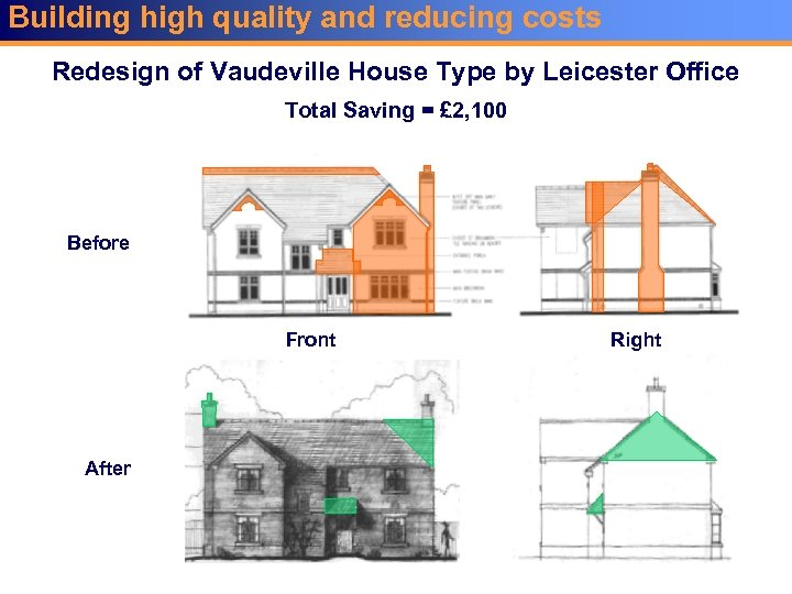 Building high quality and reducing costs Redesign of Vaudeville House Type by Leicester Office
