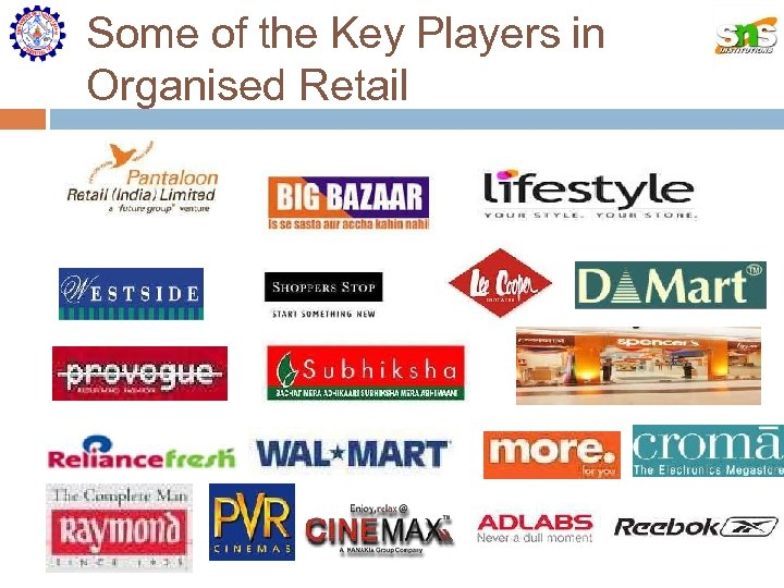 Some of the Key Players in Organised Retail