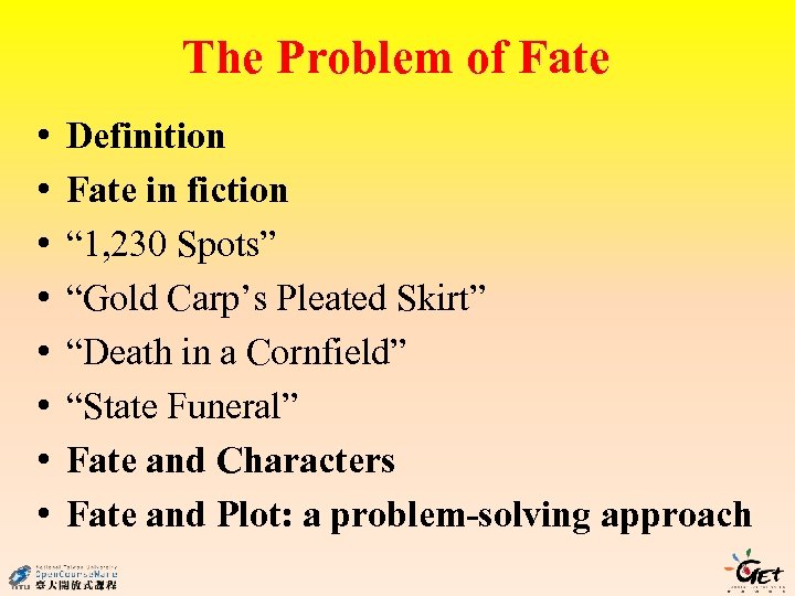 """The Problem of Fate • • Definition Fate in fiction """" 1, 230 Spots"""""""