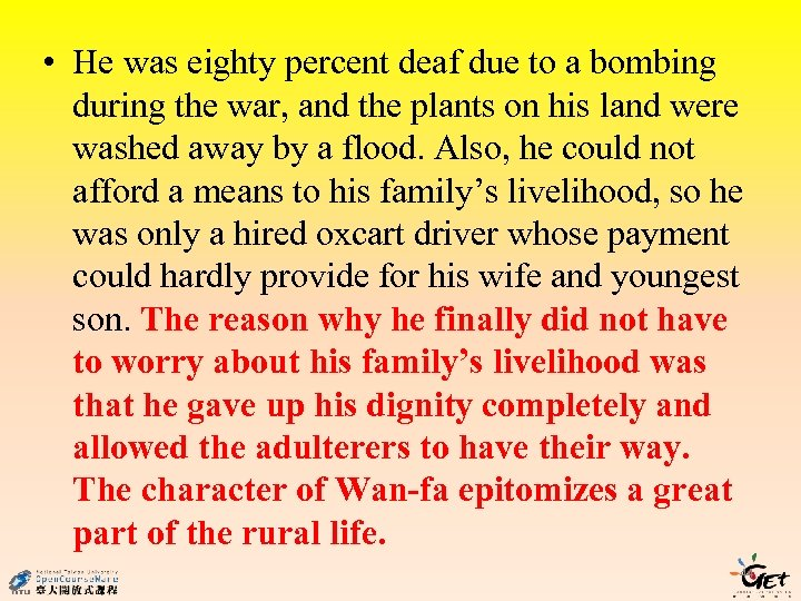• He was eighty percent deaf due to a bombing during the war,