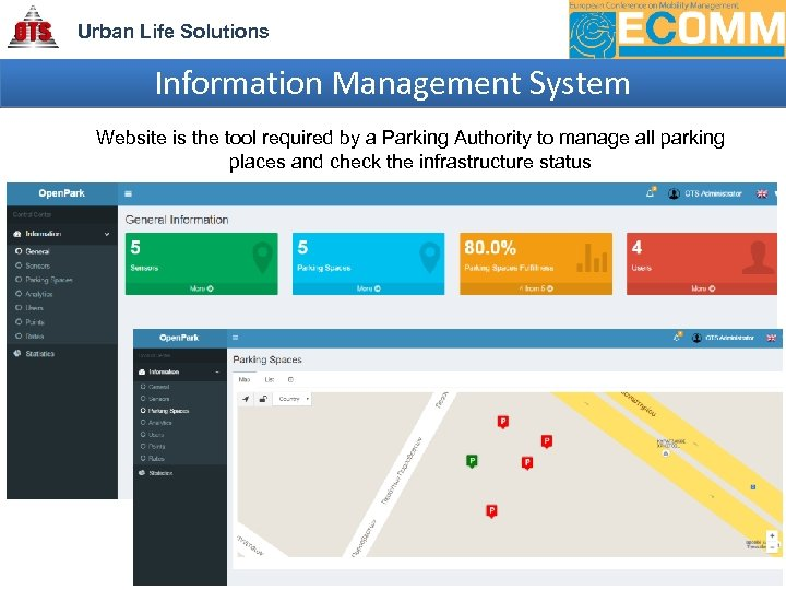 Urban Life Solutions Information Management System Website is the tool required by a Parking