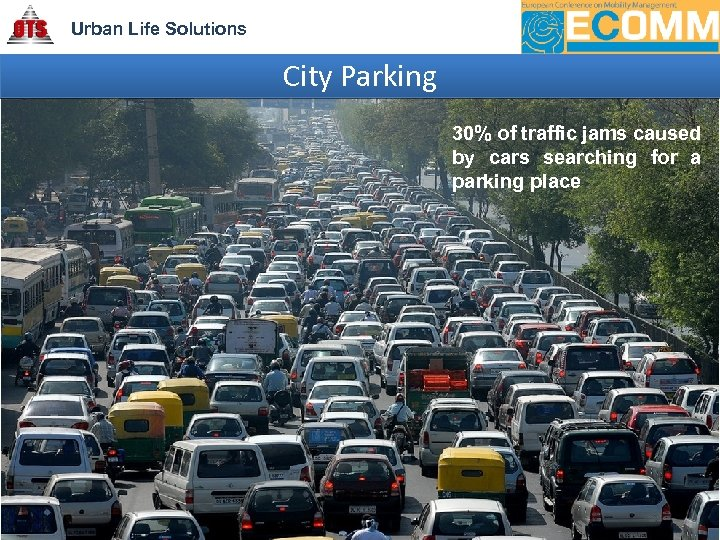 Urban Life Solutions City Parking 30% of traffic jams caused by cars searching for