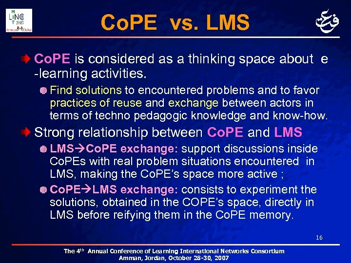 Co. PE vs. LMS Co. PE is considered as a thinking space about e