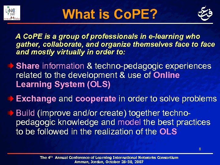 What is Co. PE? A Co. PE is a group of professionals in e-learning