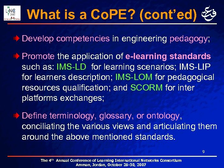 What is a Co. PE? (cont'ed) Develop competencies in engineering pedagogy; Promote the application