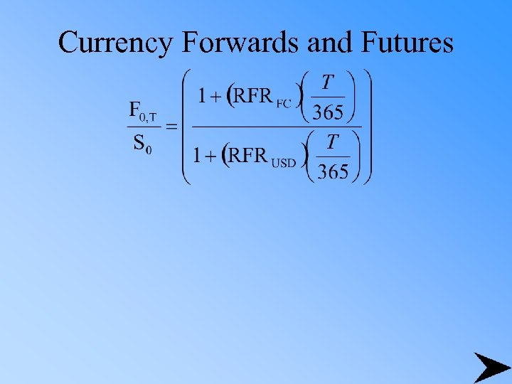 Currency Forwards and Futures