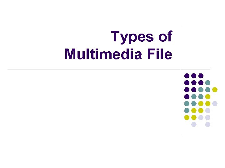 Types of Multimedia File