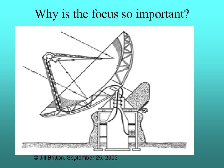 Why is the focus so important? © Jill Britton, September 25, 2003