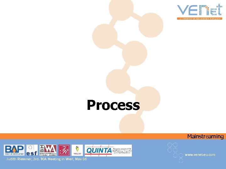 Process Mainstreaming www. venet-eu. com Judith Riessner, 3 rd. TCA Meeting in Werl, May