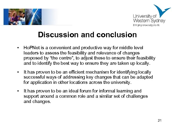 Discussion and conclusion • Ho. PNet is a convenient and productive way for middle