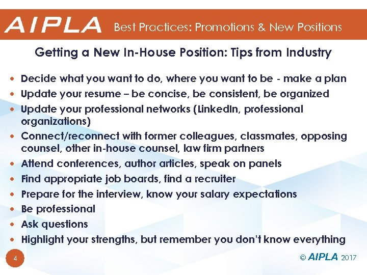 Best Practices: Promotions & New Positions Getting a New In-House Position: Tips from Industry