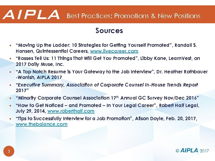 """Best Practices: Promotions & New Positions Sources """"Moving Up the Ladder: 10 Strategies for"""