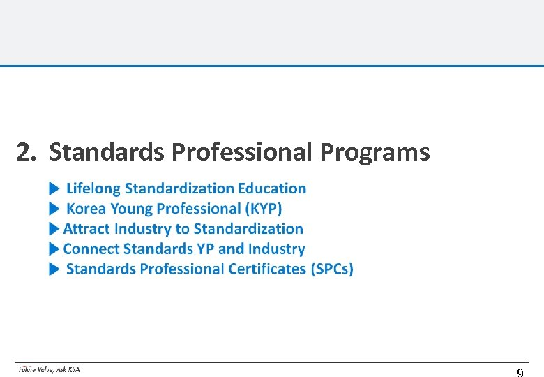 2. Standards Professional Programs