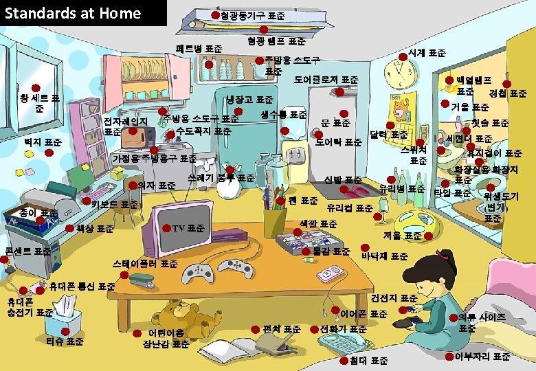 Standards at Home 형광등기구 표준 형광 램프 표준 페트병 표준 시계 표준 주방용 소도구