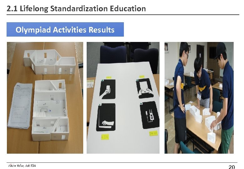 2. 1 Lifelong Standardization Education Olympiad Activities Results