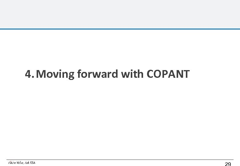 4. Moving forward with COPANT