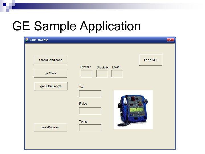 GE Sample Application