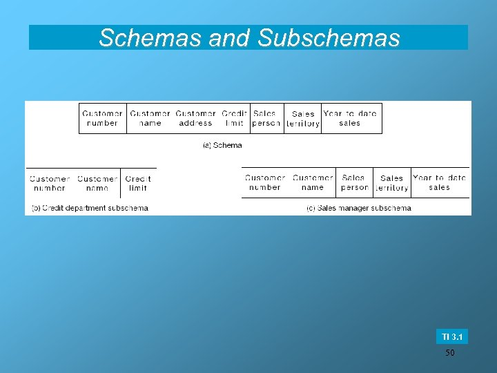 Schemas and Subschemas TI 3. 1 50