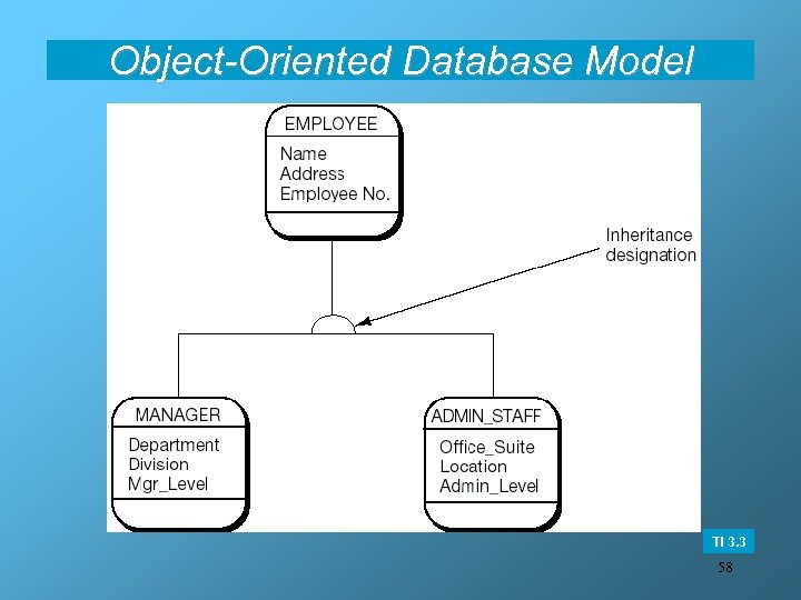 Object-Oriented Database Model TI 3. 3 58