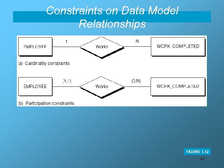 Constraints on Data Model Relationships FIGURE 3. 12 61