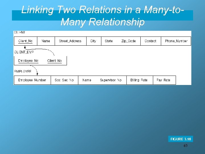 Linking Two Relations in a Many-to. Many Relationship FIGURE 3. 16 65