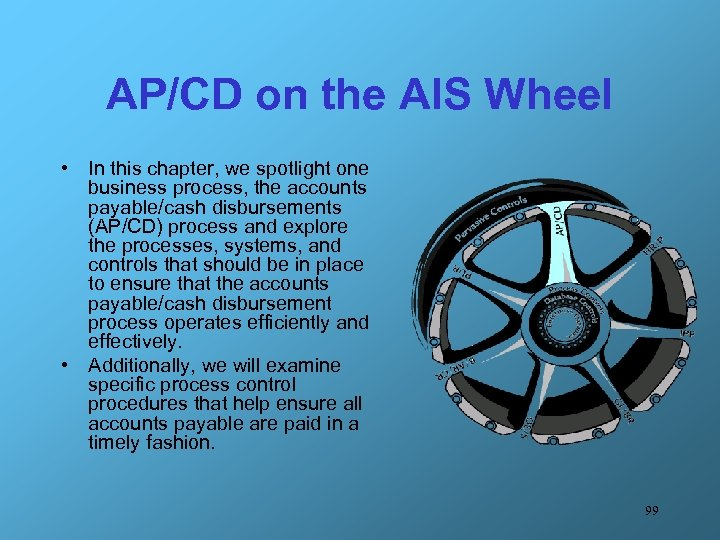 AP/CD on the AIS Wheel • In this chapter, we spotlight one business process,