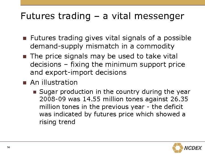 Futures trading – a vital messenger Futures trading gives vital signals of a possible