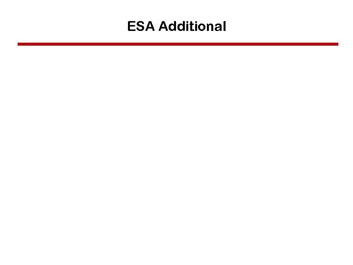 ESA Additional