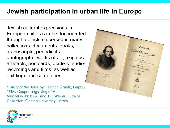 Jewish participation in urban life in Europe Jewish cultural expressions in European cities can