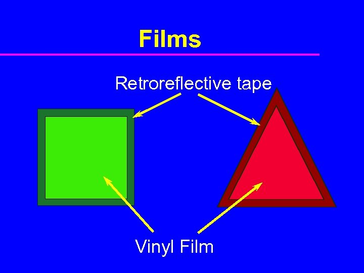 Films Retroreflective tape Vinyl Film