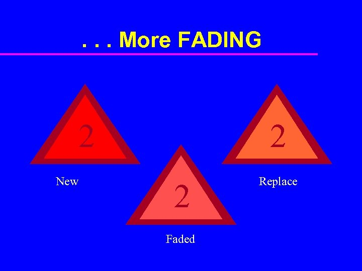 . . . More FADING 2 New 2 2 Faded Replace