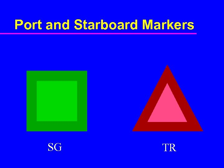 Port and Starboard Markers SG TR
