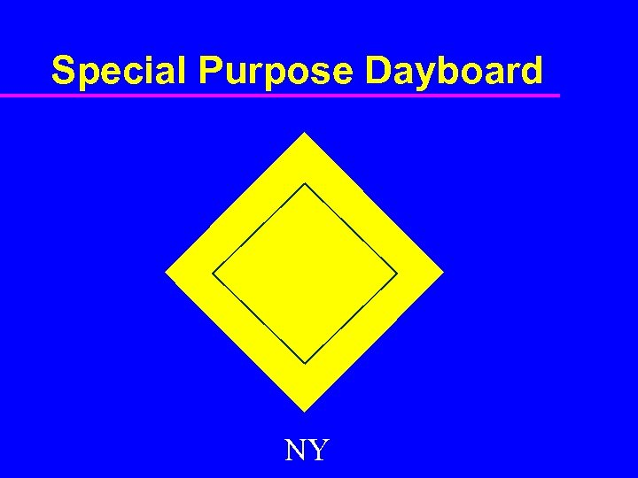 Special Purpose Dayboard NY