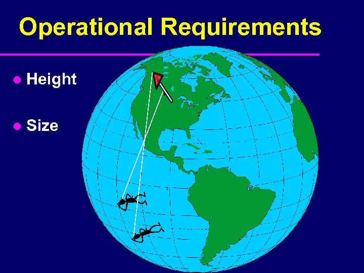 Operational Requirements l Height l Size