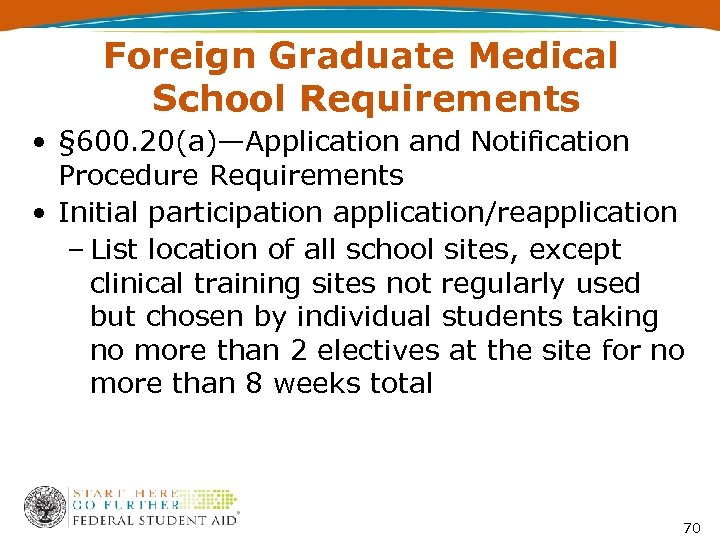 Foreign Graduate Medical School Requirements • § 600. 20(a)—Application and Notification Procedure Requirements •